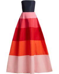 Carolina Herrera - Robe de soirée bustier en faille - Lyst
