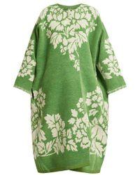 Marit Ilison - Reversible Floral-jacquard Cotton-chenille Coat - Lyst