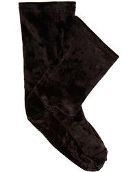 Darner - Crushed-velvet Ankle Socks - Lyst
