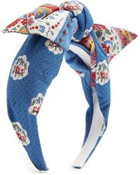 Benoit Missolin | Francette Floral-print Cotton Headband | Lyst
