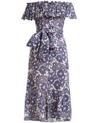 Lisa Marie Fernandez - Mira Floral Print Cotton Dress - Lyst