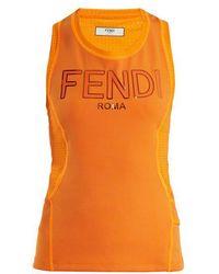 Fendi - Logo-print Performance Tank Top - Lyst