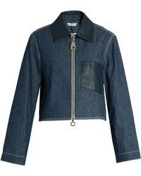 Edun | Point-collar Patch-pocket Denim Jacket | Lyst