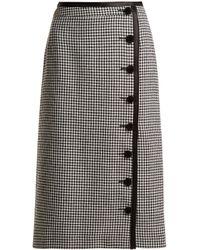 Altuzarra | Christofor Hound's-tooth Wool Pencil Skirt | Lyst