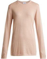 Raey - Long-line Fine-knit Cashmere Jumper - Lyst