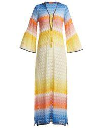 Missoni - Lace-up Crochet-knit Kaftan - Lyst