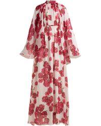 Giambattista Valli - Peony Print Silk Georgette Gown - Lyst