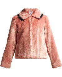 Shrimps - Dara Ruffle Trimmed Faux Fur Coat - Lyst