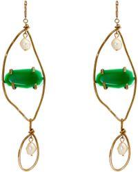 Marni - Boucles d'oreilles à pendant façon perle et pierre - Lyst