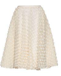 Rochas - Textured Fabric A Line Skirt - Lyst