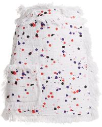 MSGM - Printed Cotton-blend Skirt - Lyst