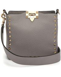 Valentino - Rockstud Grained Leather Cross Body Bag - Lyst