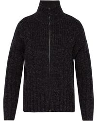 Burberry - Zip Through Cable Knit Jumper - Lyst