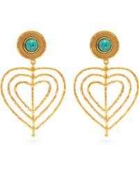 Sylvia Toledano - Valentine Heart Clip On Earrings - Lyst