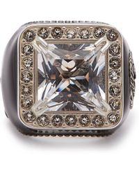 Gucci - Crystal Embellished Signet Ring - Lyst