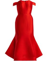 Vika Gazinskaya - Sweetheart Neckline Silk Dress - Lyst