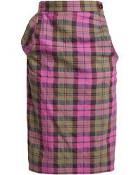 Vivienne Westwood Anglomania - Tartan Cotton Blend Pencil Skirt - Lyst