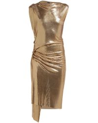 Paco Rabanne - Gathered Chainmail Dress - Lyst