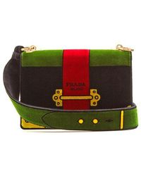 afbf5a541344 Prada Cartoon Printed Shoulder Bag in Black - Lyst