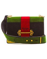 Prada - Cartoon Velvet Cross-body Bag - Lyst