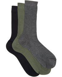 Raey - Set Of Three Silk Socks - Lyst