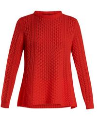 Queene And Belle - Alpina Cable-knit Cashmere Sweater - Lyst