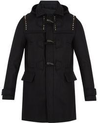 Valentino - Rockstud Untitled #24 Wool Duffle Coat - Lyst