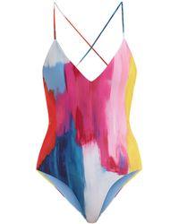Mara Hoffman - Emma Cross-back Swimsuit - Lyst