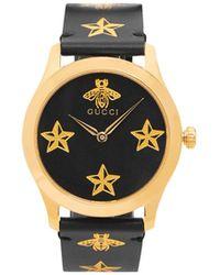 258e8a94960 Lyst - Gucci Gold Medium G-timeless Bee Watch in Metallic for Men