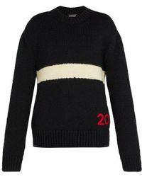 CALVIN KLEIN 205W39NYC - Logo-embroidered Wool Jumper - Lyst