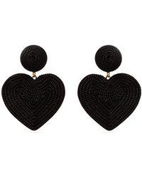 Rebecca de Ravenel - Cora Heart Costume Clip-on Earrings - Lyst
