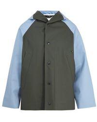 Marni - Contrast-panelled Hooded Raincoat - Lyst