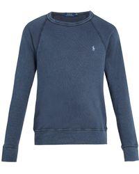 Polo Ralph Lauren - Logo-embroidered Crew-neck Cotton Sweatshirt - Lyst