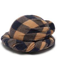 Gucci - Checked Wool Turban - Lyst