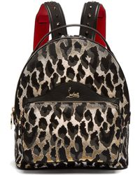 Christian Louboutin - Backloubi Small Leopard Brocade Backpack - Lyst