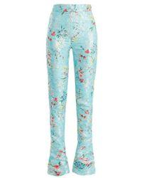 Halpern - Floral-jacquard High-rise Skinny Trousers - Lyst