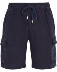Vilebrequin - Baie Drawstring Linen Shorts - Lyst
