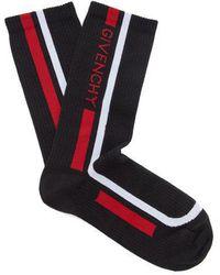 Givenchy - Logo-intarsia Cotton Sports Socks - Lyst
