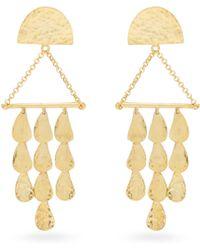 Sophia Kokosalaki - Triangle Perseids Gold-plated Earrings - Lyst