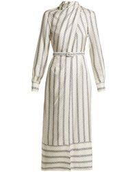 Gabriela Hearst - Josefina Boot-print Silk Dress - Lyst