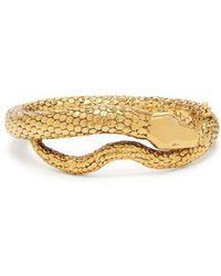 Aurelie Bidermann - Gold-plated Snake Bracelet - Lyst