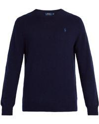 Polo Ralph Lauren - Logo Embroidered Cashmere Jumper - Lyst