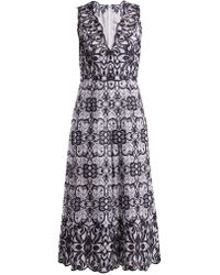 Jonathan Simkhai - V Neck Geometric Embroidered Cotton Jumpsuit - Lyst