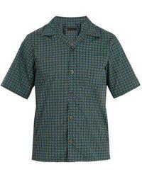 Prada - Geometric-print Cotton Bowling Shirt - Lyst