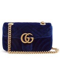 Gucci - Gg Marmont Mini Quilted-velvet Cross-body Bag - Lyst