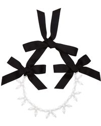 Simone Rocha Crystal Bow Necklace