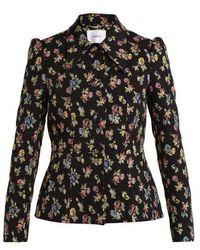 Erdem - - Floral Jacquard Jacket - Womens - Black Multi - Lyst
