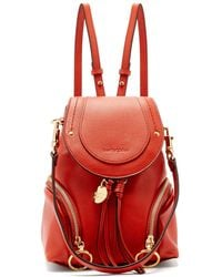 See By Chloé - Olga Grained-leather Backpack - Lyst