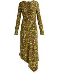Preen By Thornton Bregazzi - Nita Floral Print Stretch Crepe Dress - Lyst