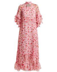 Dodo Bar Or - Rossano Floral-print Chiffon Dress - Lyst